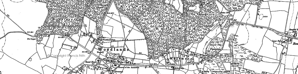 Old map of Whitmore in 1900