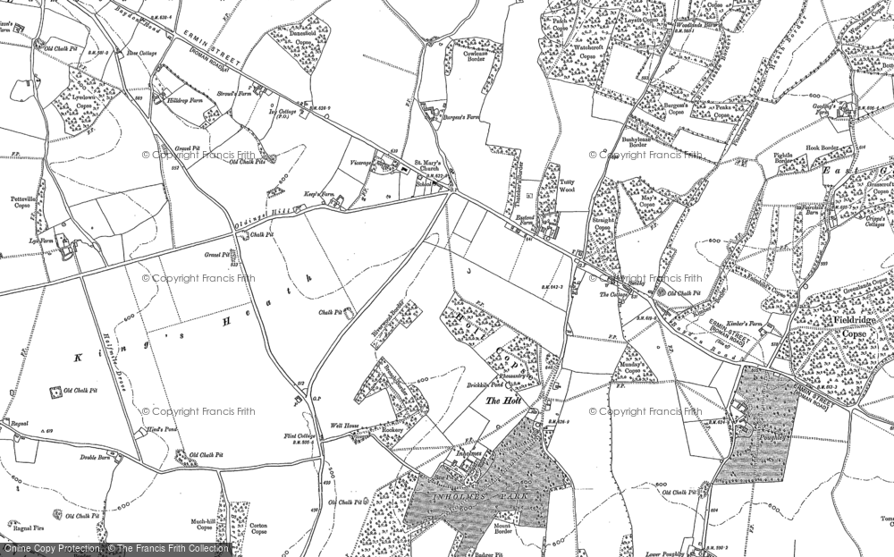 Old Map of Woodlands St Mary, 1909 in 1909