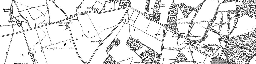 Old map of Woodlands St Mary in 1909