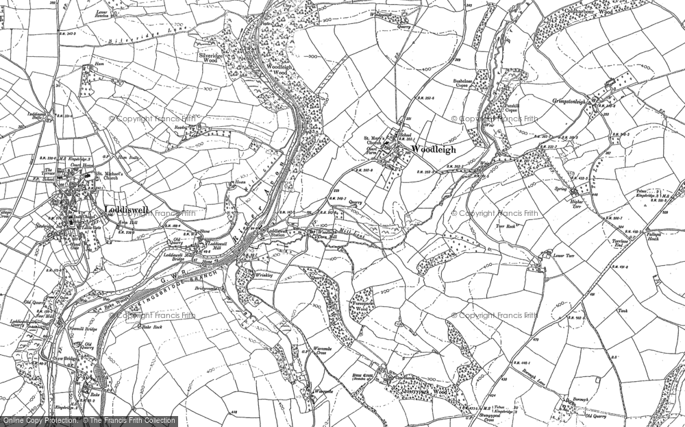Old Map of Woodleigh, 1885 - 1886 in 1885