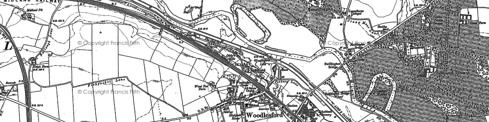 Old map of Leventhorpe Hall in 1890