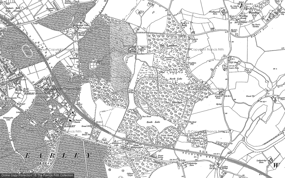 Map of Woodley, 1898 - 1910