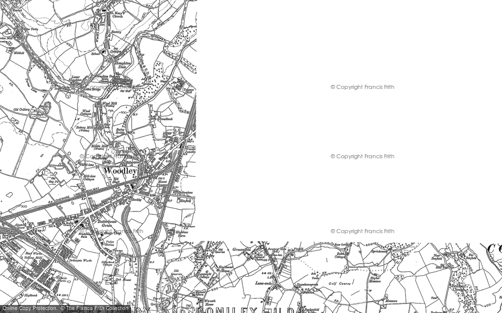 Map of Woodley, 1907