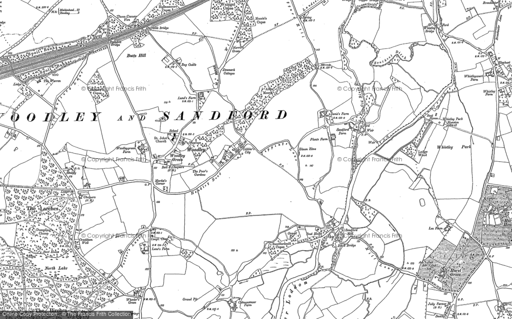 Old Map of Woodley Green, 1898 - 1910 in 1898