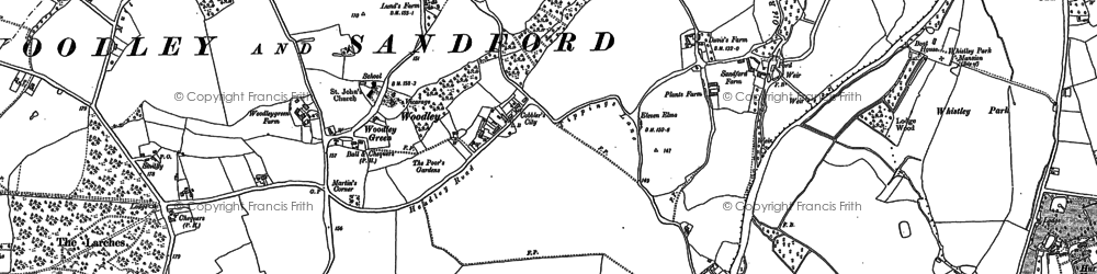 Old map of Woodley Green in 1898