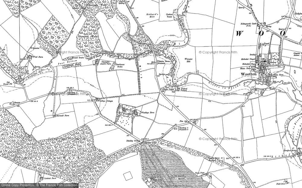 Old Map of Woodleys, 1898 in 1898