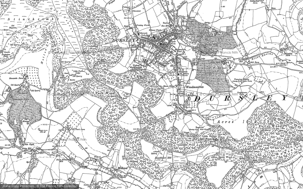 Old Map of Woodmancote, 1882 in 1882