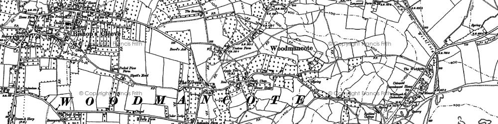 Old map of Winchcombe Way in 1883