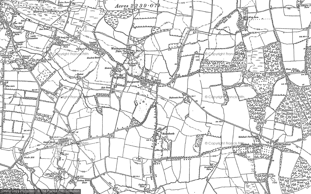 Old Map of Woodmancote, 1896 in 1896