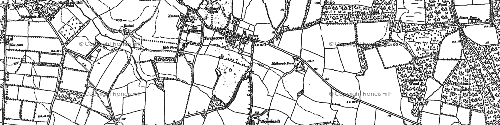 Old map of Woodmancote Place in 1896