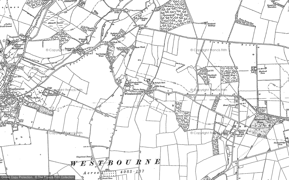 Old Map of Woodmancote, 1909 - 1910 in 1909