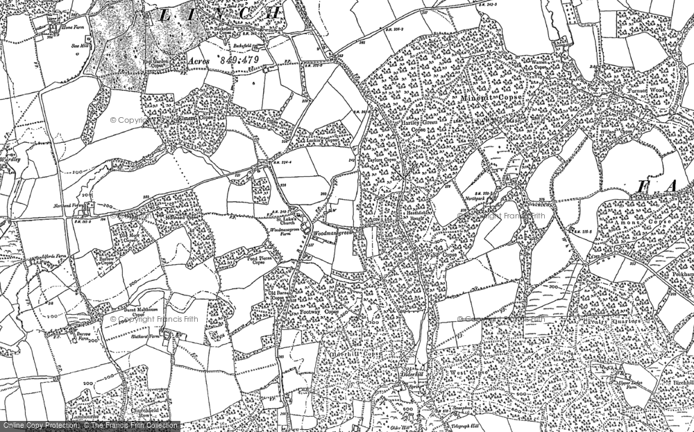 Old Map of Woodmansgreen, 1895 - 1910 in 1895