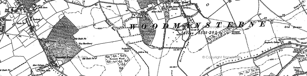 Old map of Woodcote Grove Ho in 1894