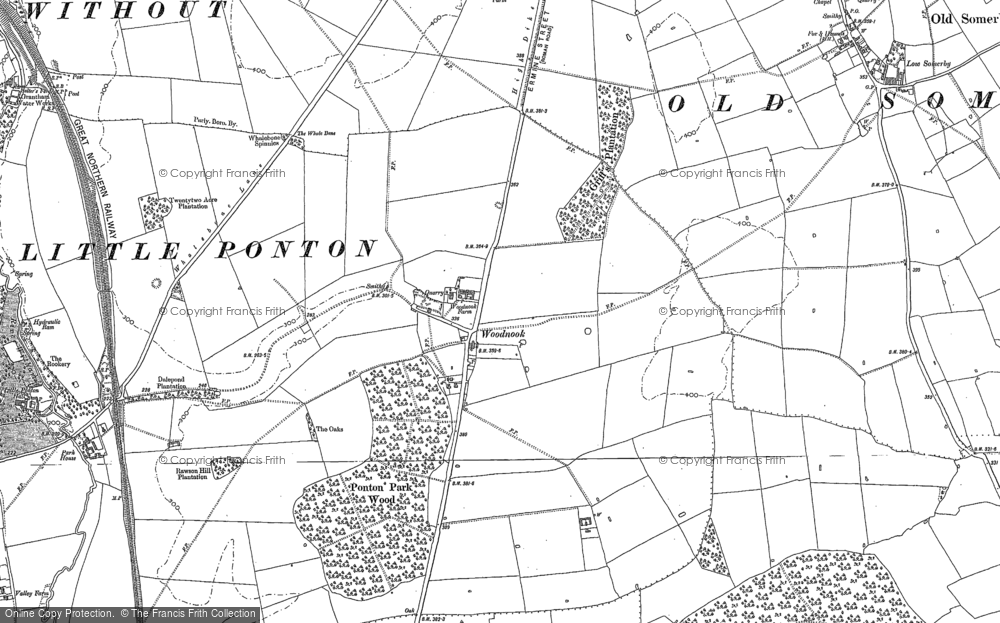 Old Map of Woodnook, 1885 - 1887 in 1885