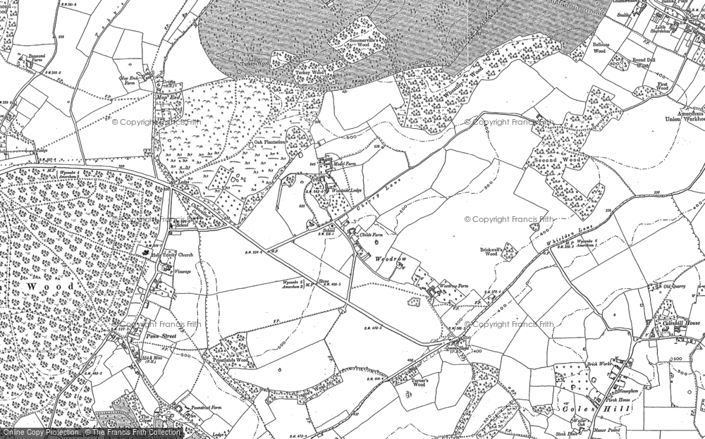 Old Map of Woodrow, 1897 - 1923 in 1897
