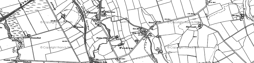 Old map of Woodrow in 1899