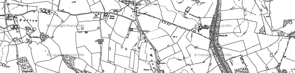 Old map of Woodseaves in 1879