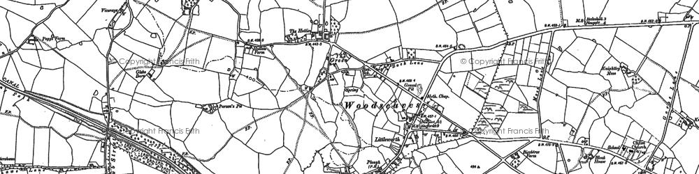 Old map of Woodseaves in 1880