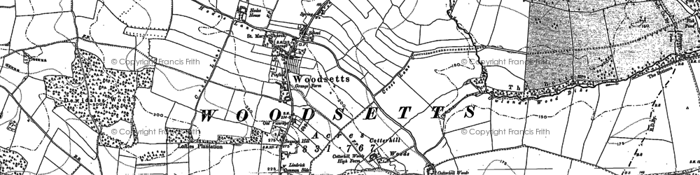 Old map of Woodsetts in 1901
