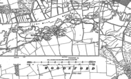 Old Map of Woodsford, 1886 - 1887