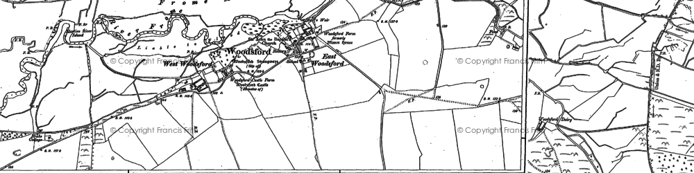 Old map of White Mead in 1886