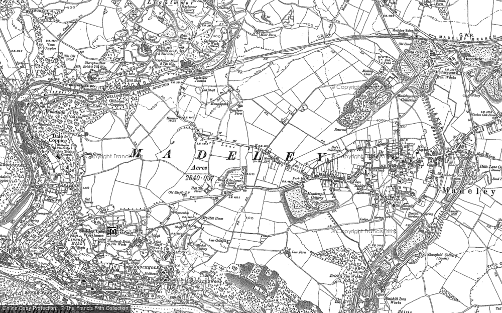 Old Map of Woodside, 1882 in 1882
