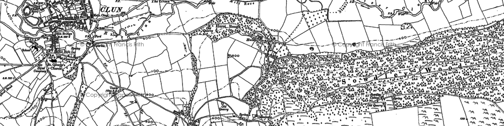 Old map of Woodside in 1883