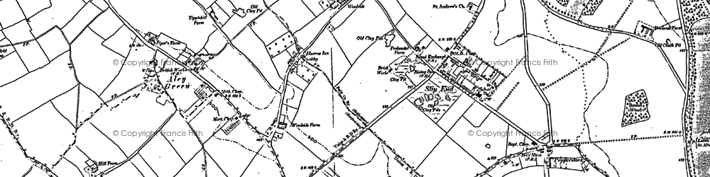 Old map of Farley Hill in 1899