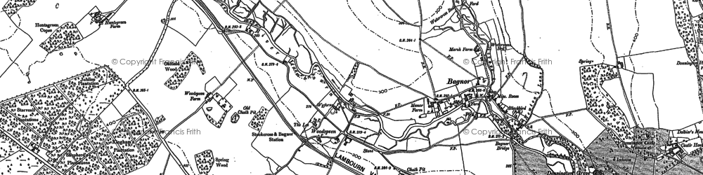 Old map of Woodspeen in 1898