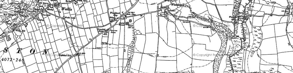 Old map of Woodstock Cross in 1887