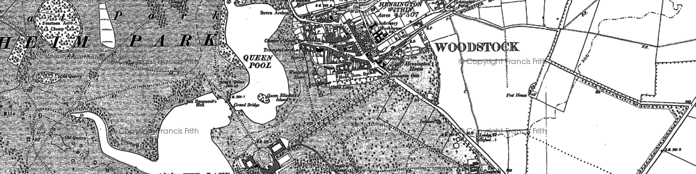 Old map of Woodstock in 1898