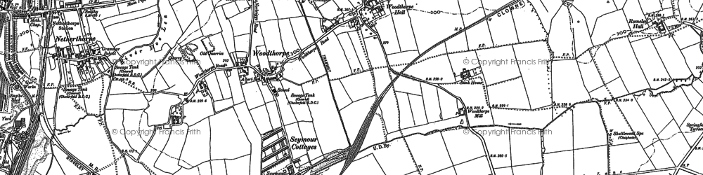 Old map of Netherthorpe in 1876