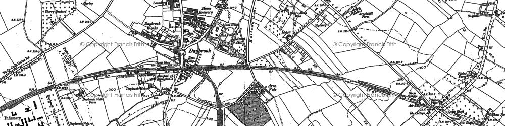 Old map of Woodthorpe in 1881