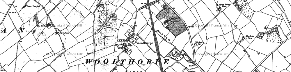 Old map of Whatoff Lodge in 1883