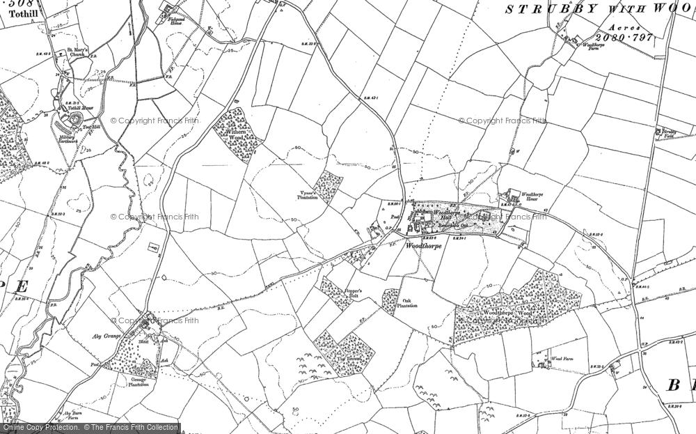 Old Map of Woodthorpe, 1887 - 1888 in 1887