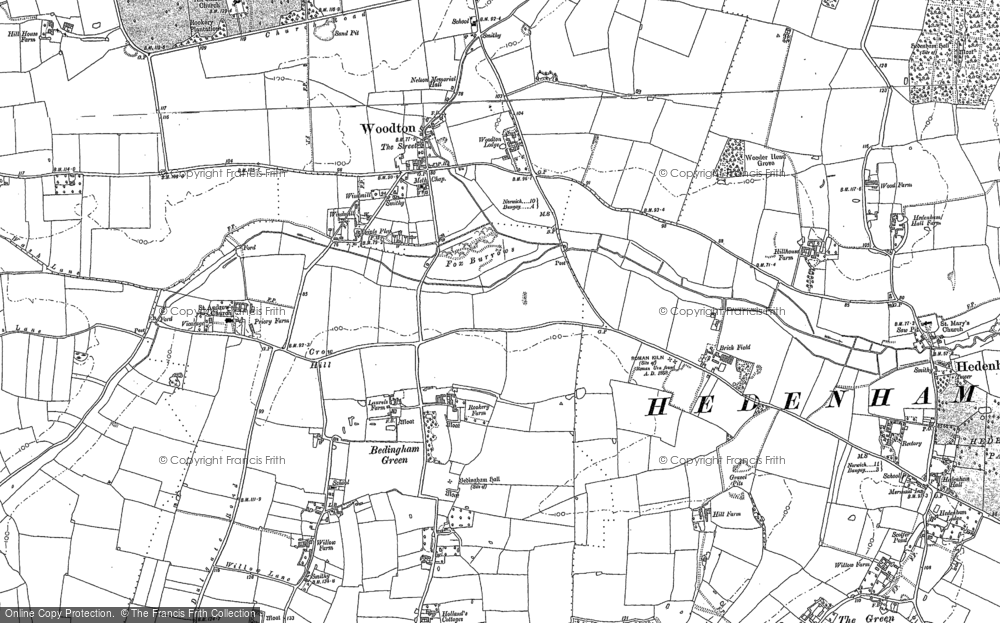 Map of Woodton, 1881 - 1903