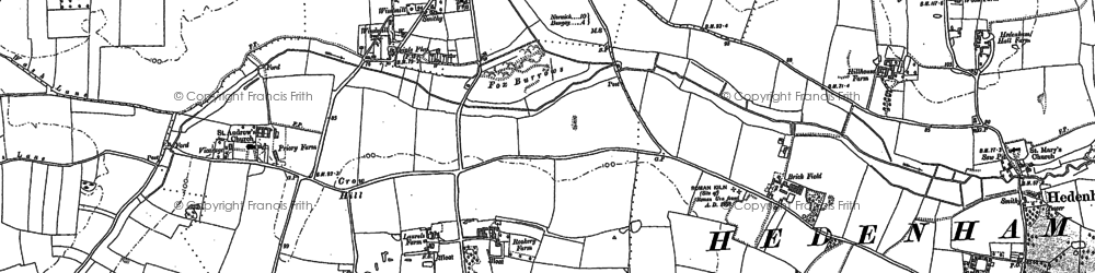 Old map of Woodton Lodge in 1881