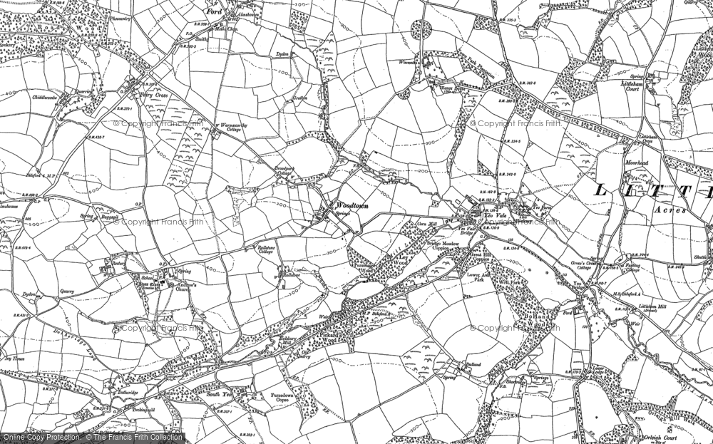 Old Map of Woodtown, 1886 - 1904 in 1886