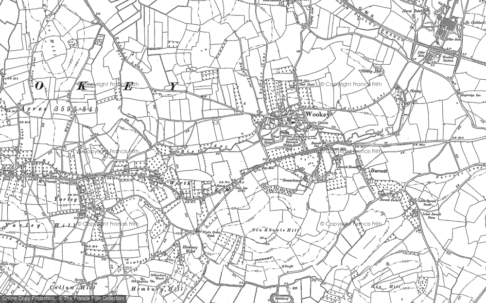 Map of Wookey, 1884