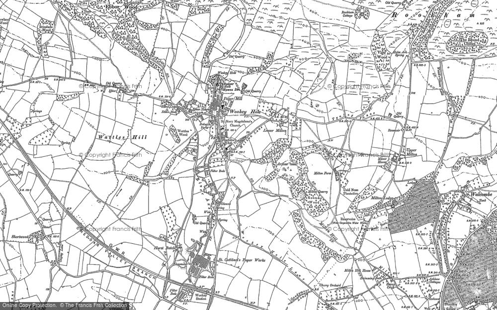 Map of Wookey Hole, 1884 - 1886