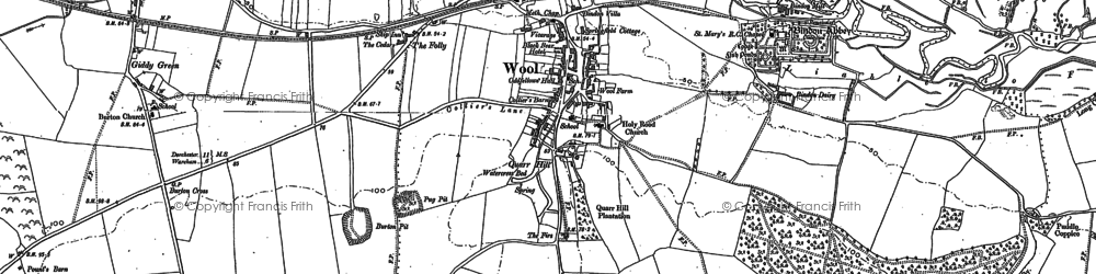 Old map of Wool in 1886