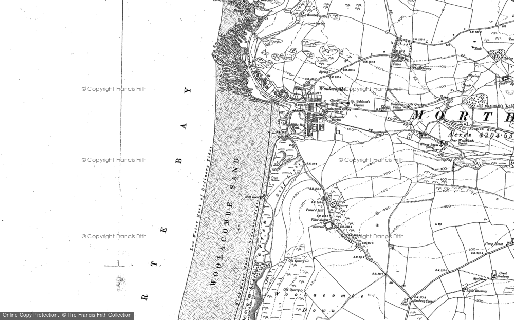 Map of Woolacombe, 1903