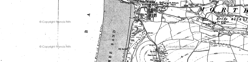 Old map of Woolacombe Down in 1903