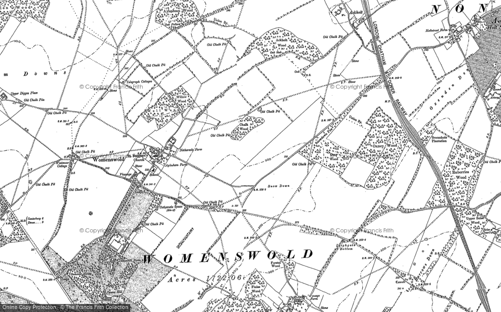 Old Map of Woolage Village, 1896 in 1896