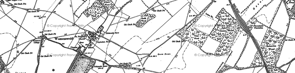 Old map of Woolage Village in 1896
