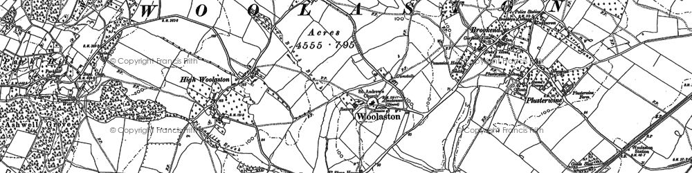 Old map of Woolaston in 1880