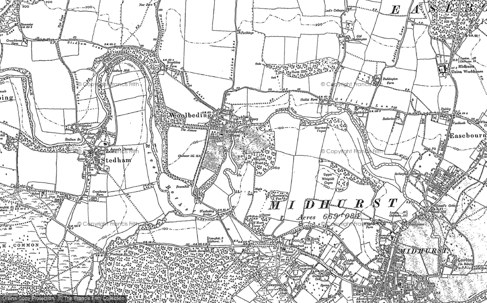 Old Map of Woolbeding, 1895 - 1896 in 1895