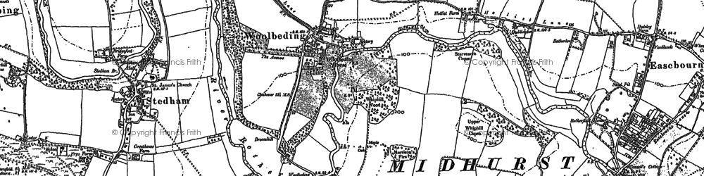 Old map of Woolbeding in 1895