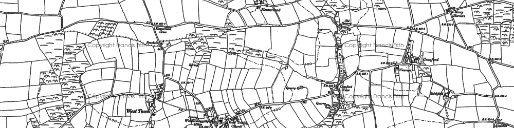 Old map of Ashmansworthy in 1884
