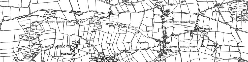 Old map of Woolfardisworthy in 1884